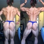 1girl ass female flexing muscular_ass muscular_back muscular_female panties valentina_mishina