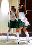 dancing no_panties sailor_jupiter sailor_moon_(cosplay) sailor_uniform shaved_pussy tagme webm